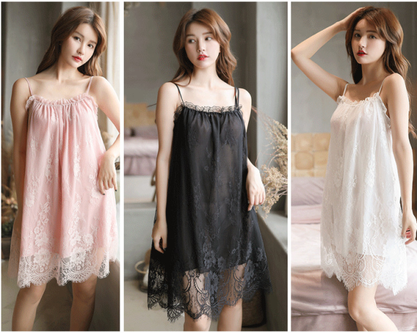 Lace home dress