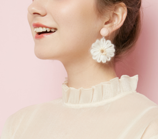Cotton earring
