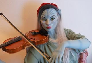 156A Blue Avatar seamless silicone doll