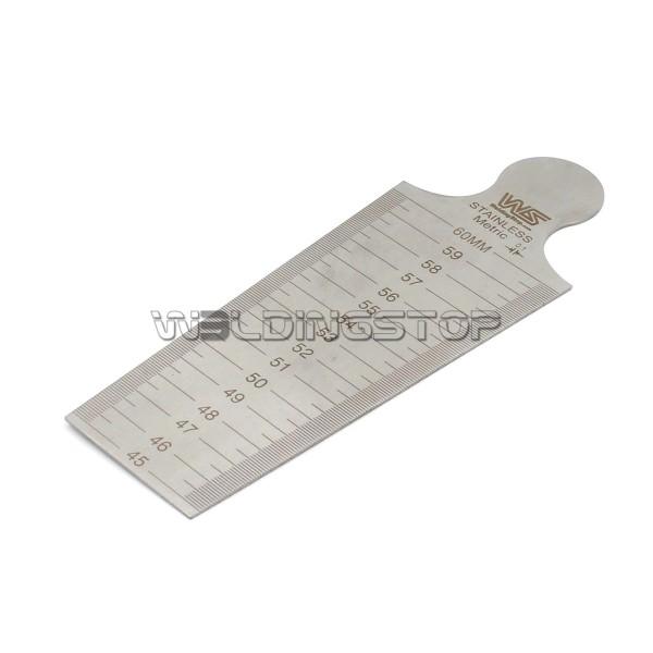 Welding Taper Gauge Hole Width/Diameter Inspection 45-60mm 13/16''-2 3/8'' Inch/mm Stainless Steel