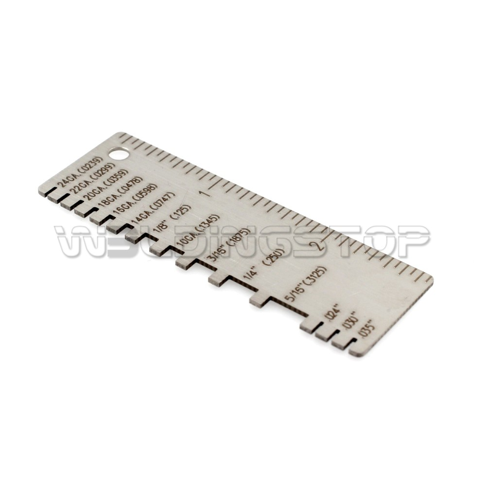 Wire Metal Sizes Thickness Gaug 2pcs Wire//Metal Sheet Thickness Gauge Stainless Steel Welding Gage Plated Size Inspection Tool