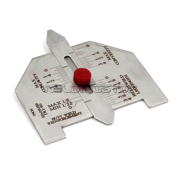 Automatic Welding Reinforcement Gauge Weld Fillet Length Stainless Steel Adjustable Screw Inch