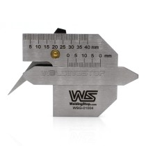 HJC-45Welding Seam Gauge Weld Fillet Throat Size/Length Gage Thickness Inspection Tool Metric Readin