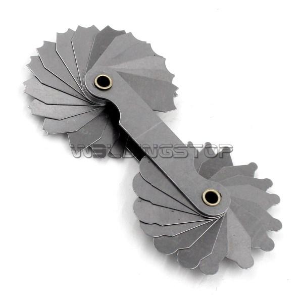 Radius gage Gauge Fillet set R1-6.5mm Concave Convex arc end internal external