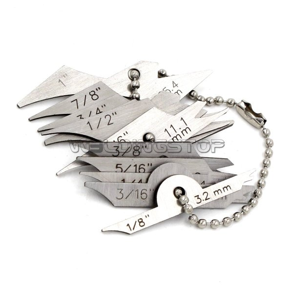 Mini Fillet Weld Keys inspection Gauge, Welding Radius Gage 10pcs chain set