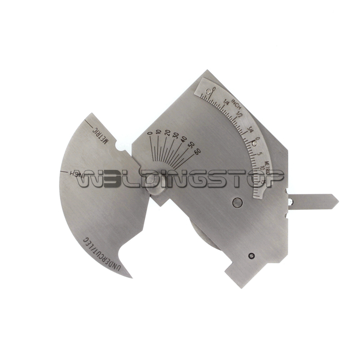 Bridge Cam Gauge Welding Fillet Throat Gage Bevel Angle Inch//mm Stainless Steel