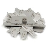 7 Pieces Welding Fillet Leg Length/Throat Size Gauge Weld Concave Convex Gage Measure Tools Inch/mm