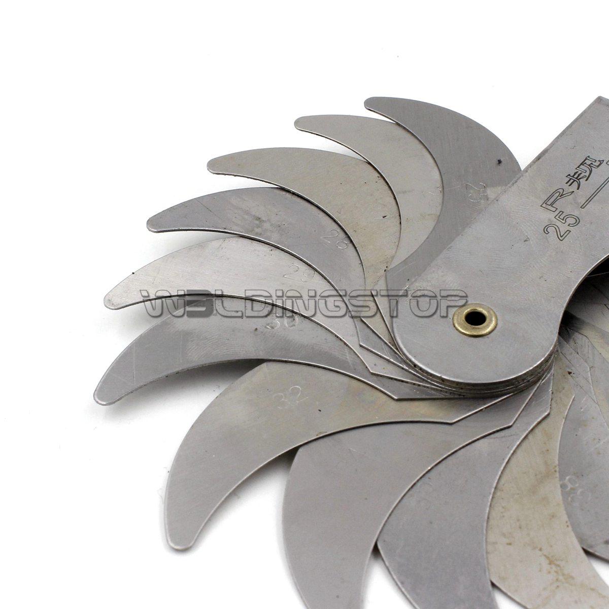 25-50mm External Internal Measure Metal Radius Gauge Gage
