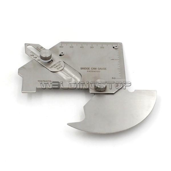 MG-8-B Bridge CAM Gauge Welding Gauge Weld Fillet Throat Gage Undercut/Misalignment Inch/mm Slotted