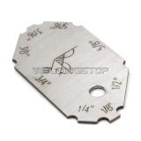 4 Pieces Welding Gauge Key Chain Weld Fillet Leg Length Throat Laser Engraving Inch
