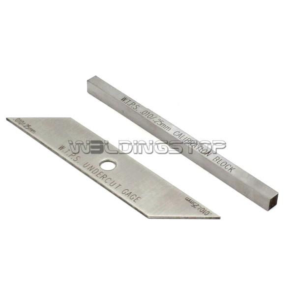 Two-pieces Welding Gauge With Calibration Block Weld Undercut Depth Inspection Tools Metric Reading