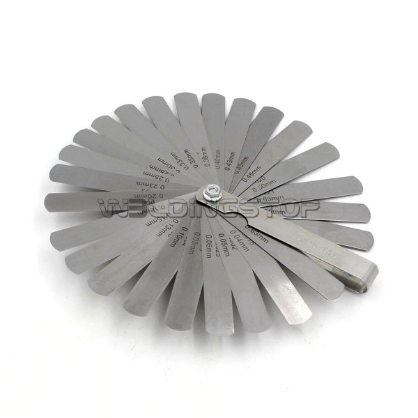 Feeler filler Gauge 26 Blades Metric inch/Imperial 0.04-0.63mm Thickness Gage