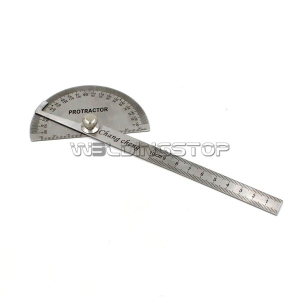 Economic Stainless Steel Round Head Rotary Protractor Angle Ruler Measuring Tool