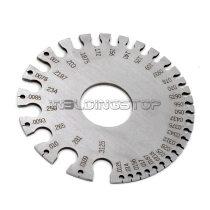 WS genuine round WIRE GAUGE diameter gage stainless steel inch inspection S.W.G.