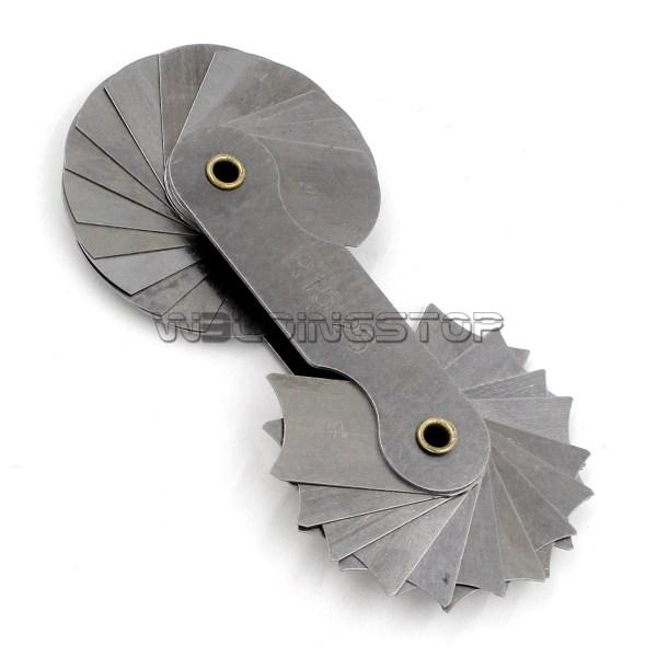 Radius gage Gauge Fillet set R15-25mm Concave Convex arc end internal external