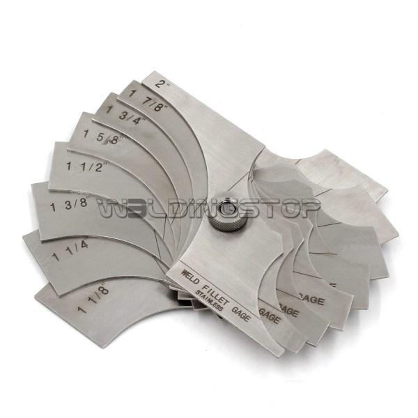inspection Gauge Welding Fillet Gage 8 piece set 1~1/8- 2 Inch Measure tool