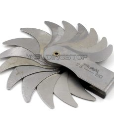 Radius gage Gauge Fillet set R25-50mm Concave Convex arc end internal external