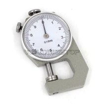 INSPECTION DIAL THICKNESS GAUGE GAGES / 0.1mm X 10mm / Flat measure head