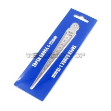 Welding Taper Gauge Hole/Gap Inspection 0-15mm 0-5/8'' Measure in Inch/mm Stainless Steel Body Thick
