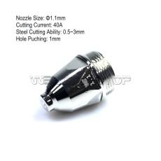 P80/P-80 Air Plasma cutting torch TIP NOZZLE 1.1mm (WS Genuine consumables)