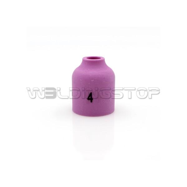 53N58 #4 Alumina Gas Lens Ceramic Nozzle 1/4'' 6mm fit TIG Welding Torch WP-9 WP-20 & WP-25