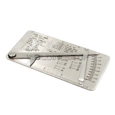 Pipe pit Welding Gage 0-1/2'' in 1/64'' Increments Handy Formulas&Decimal Equivalent Stainless Steel