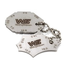 2 Pieces Welding Gauge Key Weld Fillet Throat Leg Length Gage Standard Equivalent Handy Key Chain Me