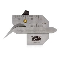 HJC-40B Welding Gauge Weld Seam Reinforcement Gage Fillet Leg Length/Throat Tools Bevel Angel Metric