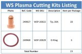 249927 Tip & O-Ring for Miller Spectrum 375/625 X-TREME Cutter XT30/XT40 Torch 23-PKG