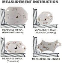 Welding Gauge Kit Weld Fillet Throat Size Leg Length Gage Set In Inch Metric Stainless Steel 4pcs Key Set