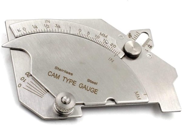 Bridge Cam Gauge Welding Fillet Throat Gage Bevel Angle Inch/mm Stainless Steel