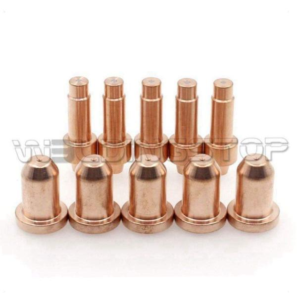 WeldingStop PK-10 Plasma Cutting Electrode 770791 Nozzle Tip 770795 for Hobart Airforce 12ci Torch Plasma Cutting Torch Consumables 770791 Electrode 770795 Tip