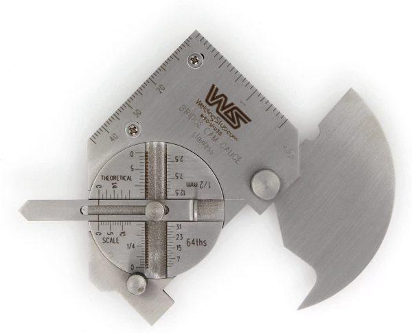 W.S Welding Fillet Gauge Bridge CAM Gauge Pocket Size Weld Seam Throat Inspection Gage Fillet Throat Gauge