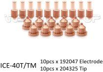 192047 Electrode 204325 Tip 40A for Miller Plasma ICE-40C ICE-40T/TM Torch PK-20