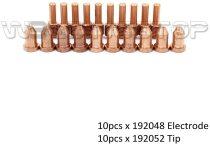 Plasma Extended Electrode Tip For Miller Spectrum 625 Cutter ICE-40C/40T/55C Torch PK-20