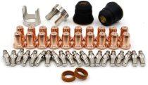 WS PK-46 Electrode/Tip 1.0mm 0.039'' / Swirl Ring/Shield Cap Fit Plasma Cutting PT-60 PT60 PT-40 IPT-60 Torch