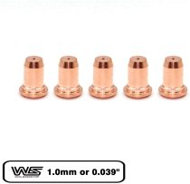 Tip 1.0mm 0.039'' for Longevity ForceCut 42i 62i Cutter Plasma PT-60 / IPT-60 Torch 5-PK