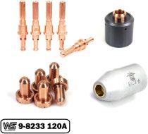 120A Standoff Tip 9-8233 Electrode 9-8215 Shield Cap 9-8218 Start Cartridge 9-8213 PK-12