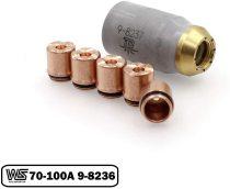 9-8236 Drag Shield 70-100A + 9-8237 for Thermal Dynamics 52/82/102/152 Cutter SL60/SL100 Torch PKG-6