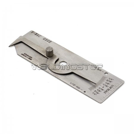 WeldingStop V-WAC Undercut Welding Gauge Weld Reinforcement Height Gage Porosity Sze/Amount Tools Pit Depth Inch