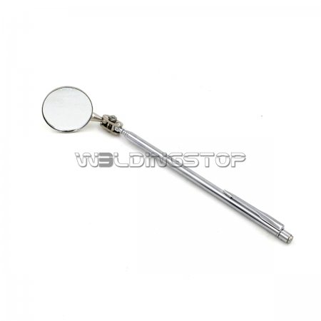 Adjustable Telescopic Inspection mirror swivel arm pocket clip MECHANIC tools