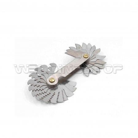 Screw Thread Pitch Gauge Tool Set Thread Pitch Gauge Measuring Tool US System 60 Degree 30pcs