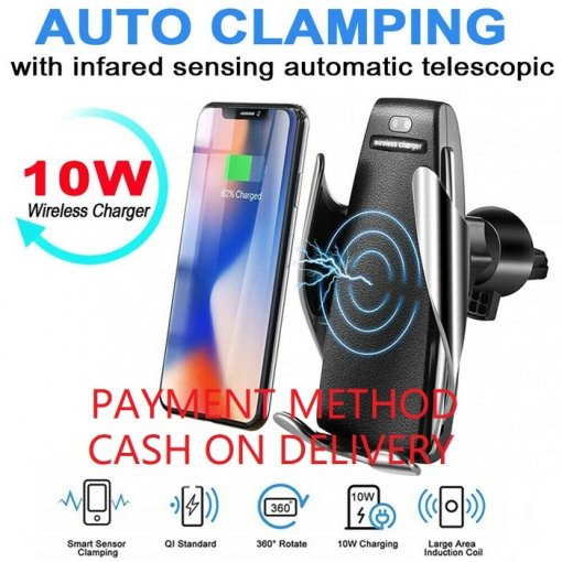WIRELESS CAR CHARGER AUTOMATIC CLAMPING - NOTE: CASH ON DELIVERY - Click 'Add to Cart''-->Click 'Buy Now'-- to register your contact information
