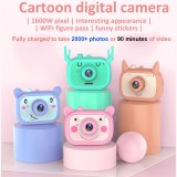 WIFI Kid Digital Camera 1600W HD Screen Chargable Digital Camera Toy Take Photo Memory Expansion 16GB For Child Educational Gift