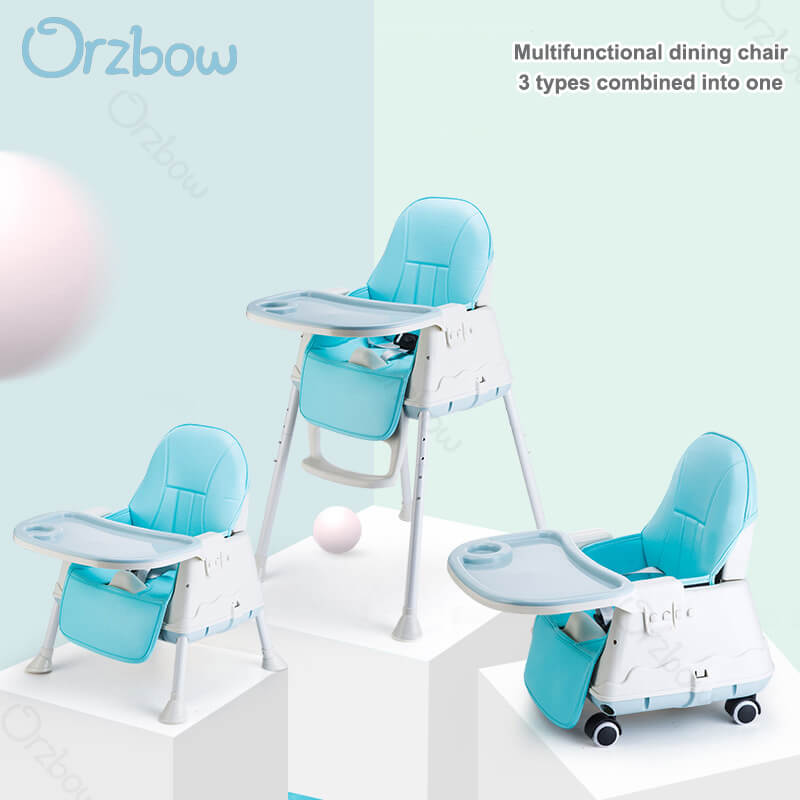 Deformable three-in-one high chair