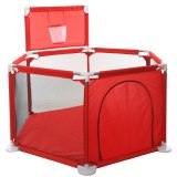 red Baby Playpen For Children