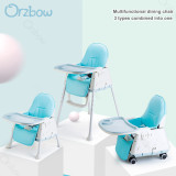 Three-in-one high chair poster display