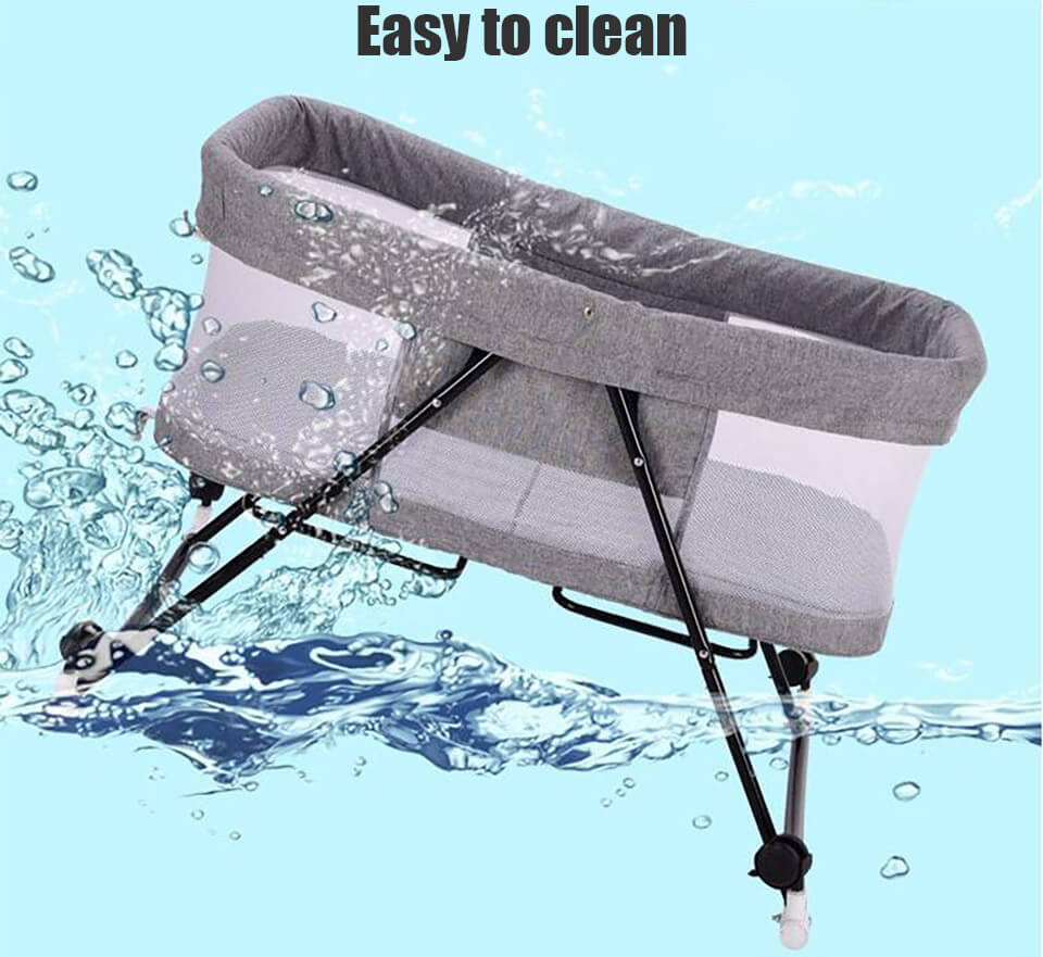 The Foldable Baby Bed easy to clean