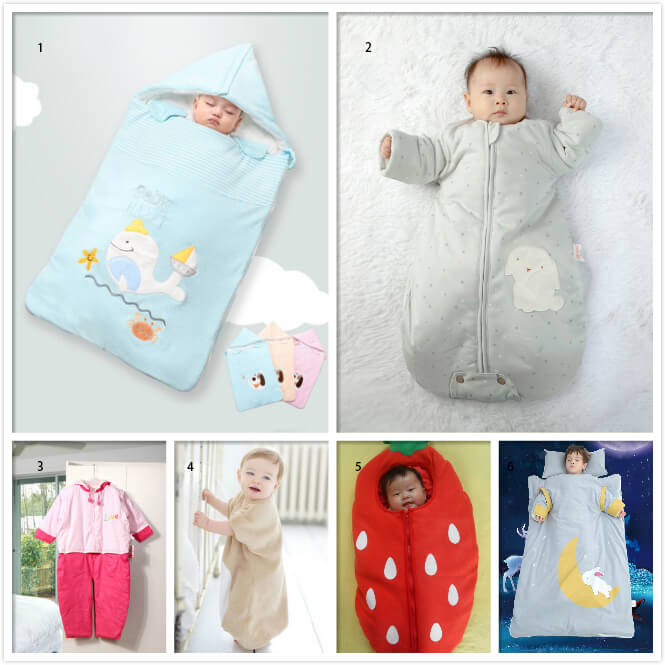 Baby sleeping bags have at least six shapes.