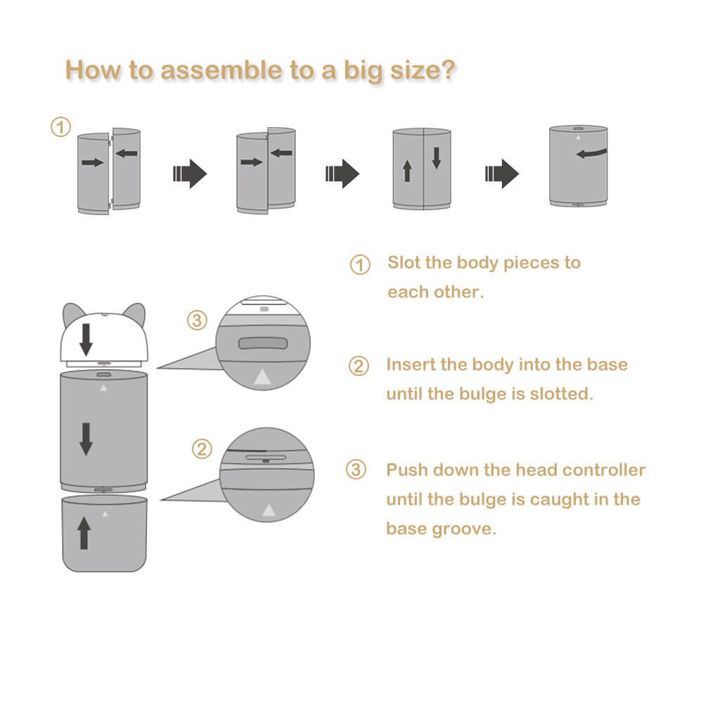 how to assemable to a big size